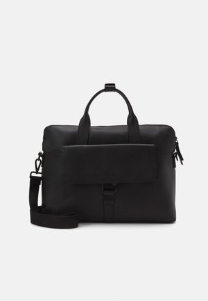 UNISEX LEATHER - Laptop bag - black