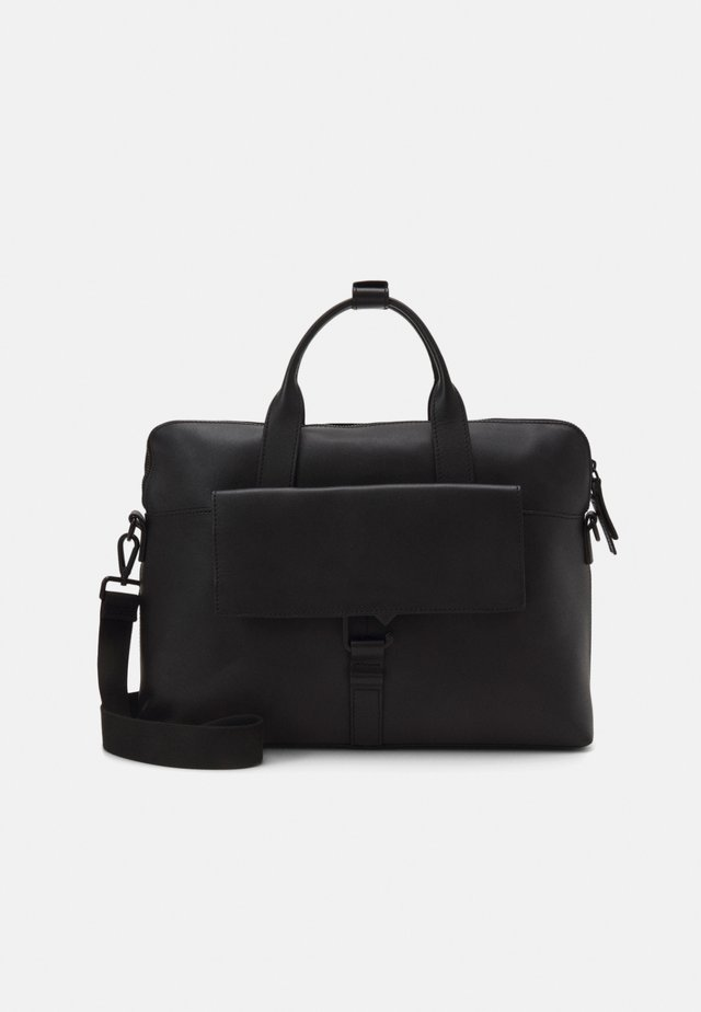 UNISEX LEATHER - Torba na laptopa - black