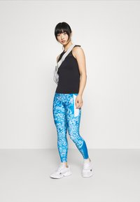 ONLY PLAY Petite - ONPANGILIA LIFE - Leggings - imperial blue/white/imperial blue - 1