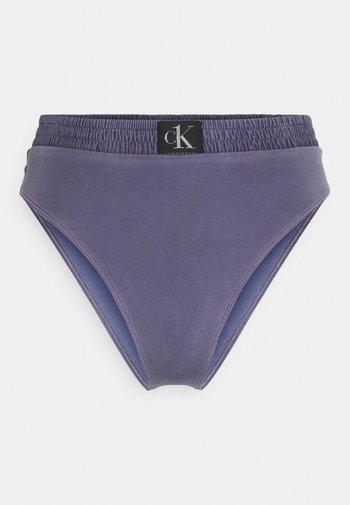 AUTHENTIC HIGH RISE - Bikini bottoms - blue
