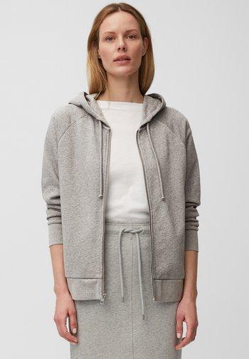 Zip-up sweatshirt - medium grey melange