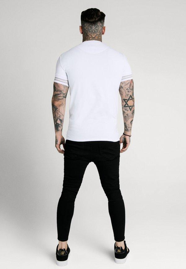 SIKSILK ELEMENT GYM TEE - T-shirt basic - white/gold/biały Odzież Męska XILE