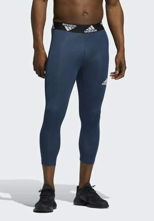 TECHFIT 3/4 3-STRIPES TIGHTS - Medias - blue