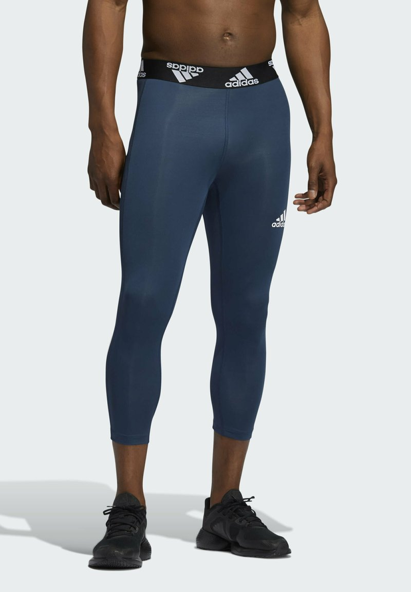 adidas Performance - TECHFIT 3/4 3-STRIPES TIGHTS - Leggings - blue