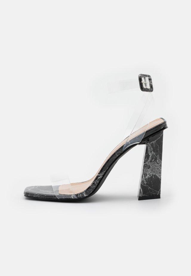 VERITY - Sandály na vysokém podpatku - black