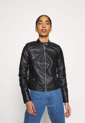VMLOVECINDY COATED JACKET - Imitert skinnjakke - black