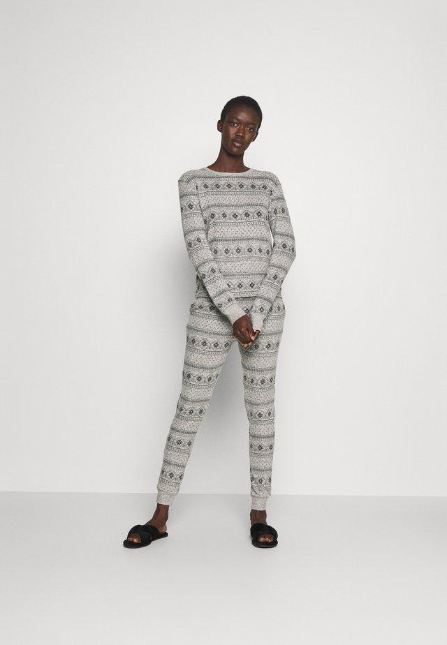 SET - Pijama - grey/black