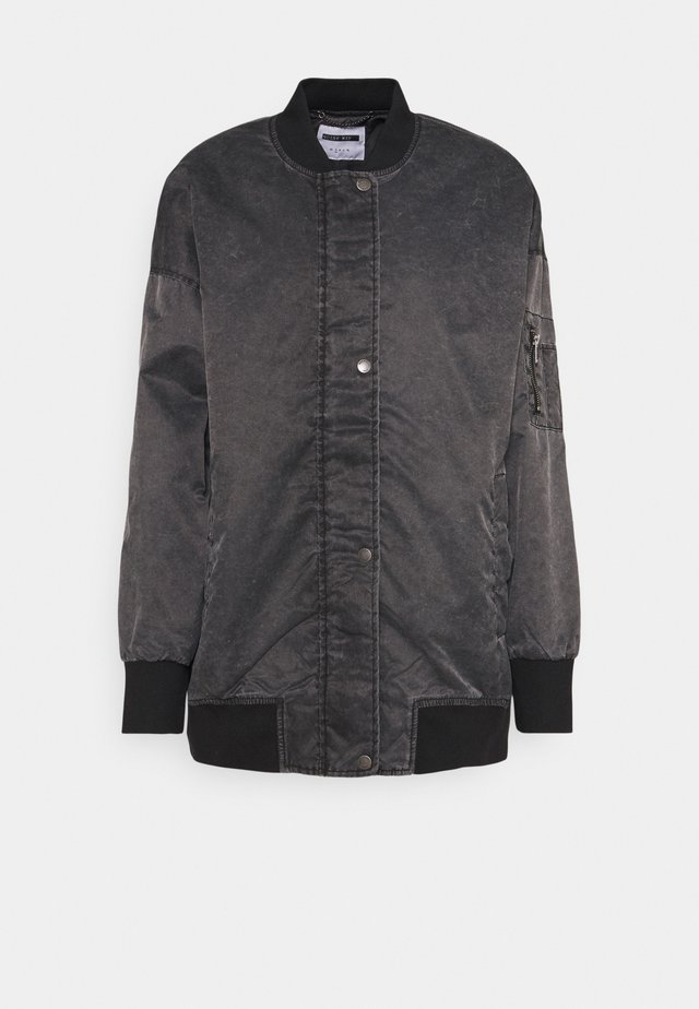 NMCORDY JACKET - Bomber Jacket - black/washed black