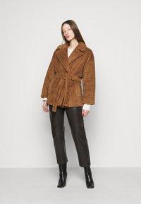 WEEKEND MaxMara - ARIELLA - Leather trousers - dunkel braun - 1