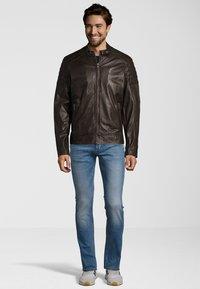 Capitano - IOWA - Leather jacket - dark brown - 1
