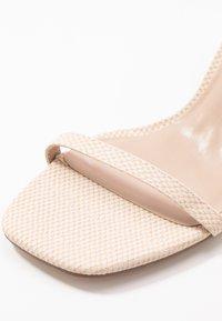 Miss Selfridge - SHAKIRA LOW STILETTO - Sandals - nude - 2