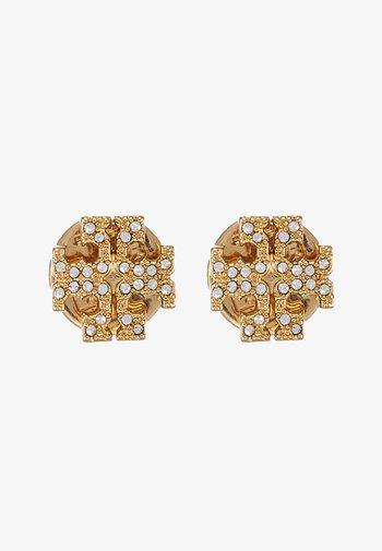 KIRA PAVE STUD EARRING - Orecchini - gold-coloured /crystal