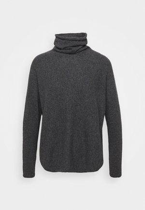 CURVED TURTLENECK - Sweter - dark grey