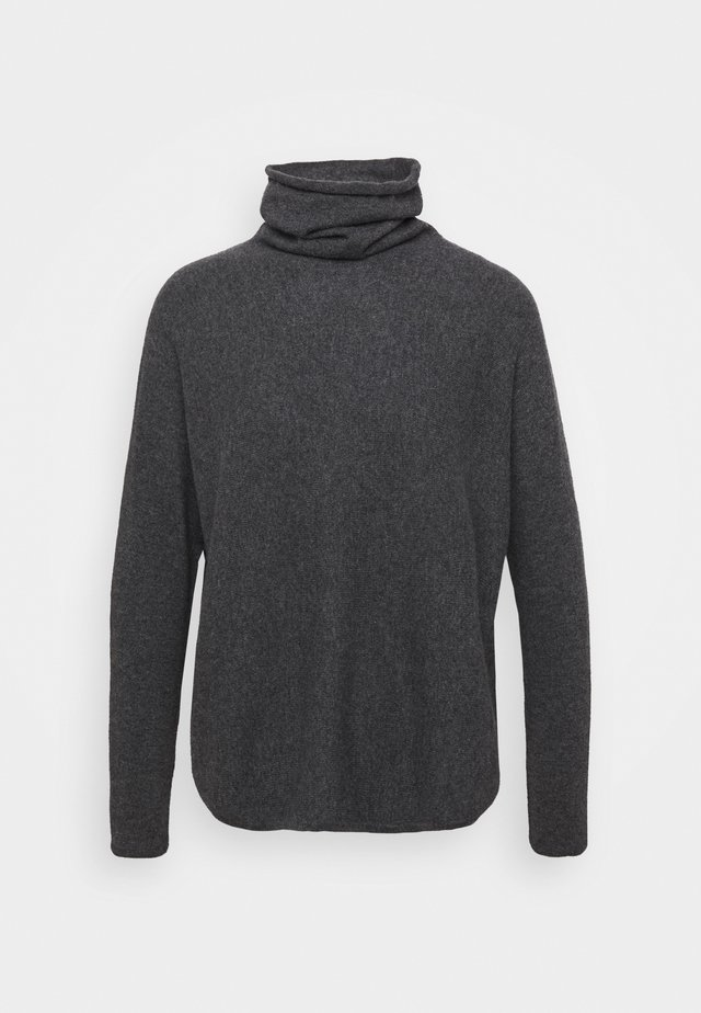 CURVED TURTLENECK - Jumper - dark grey