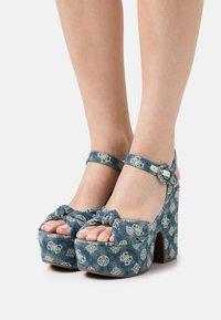 Guess - RION - Platform sandals - denim - 0