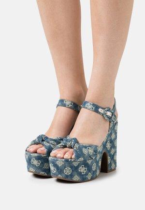 RION - Platform sandals - denim