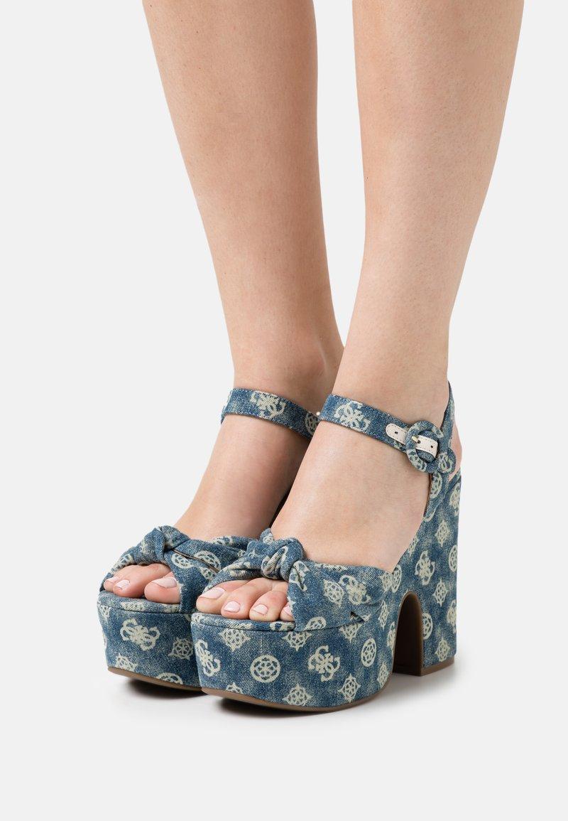 Guess - RION - Platform sandals - denim