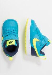 Nike Sportswear - COURT BOROUGH 2 - Matalavartiset tennarit - midnight navy/lemon/black/anthracite - 0