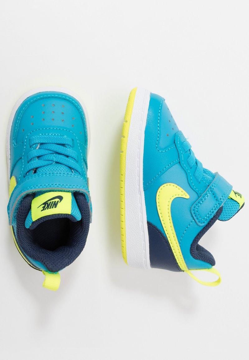Nike Sportswear - COURT BOROUGH 2 - Matalavartiset tennarit - midnight navy/lemon/black/anthracite