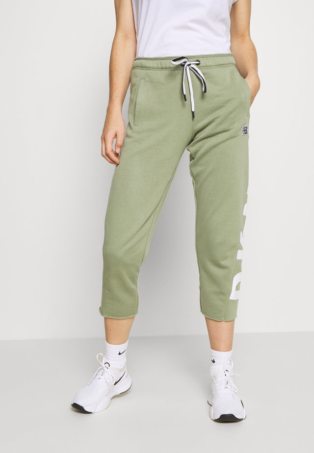 CUT OFF LOGO CROPPED SLIM FIT JOGGER - Spodnie treningowe - olive
