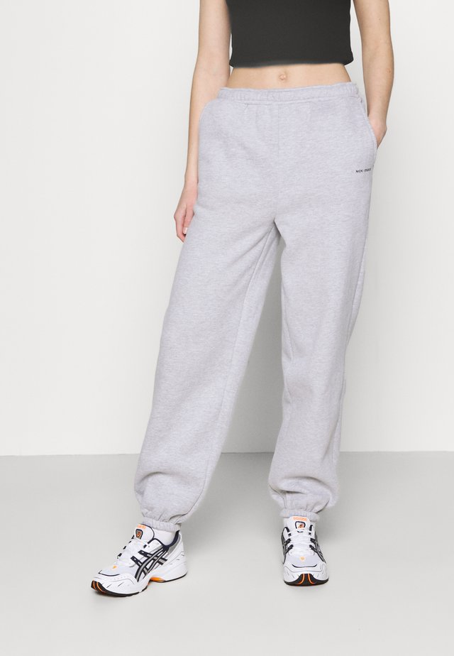 LOGO COLLAGE PANTS - Joggebukse - grey melange