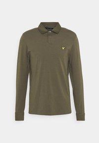 WOVEN COLLAR  - Polo shirt - trek green