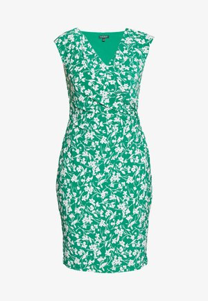 PRINTED MATTE DRESS - Fodralklänning - malachite/colonia