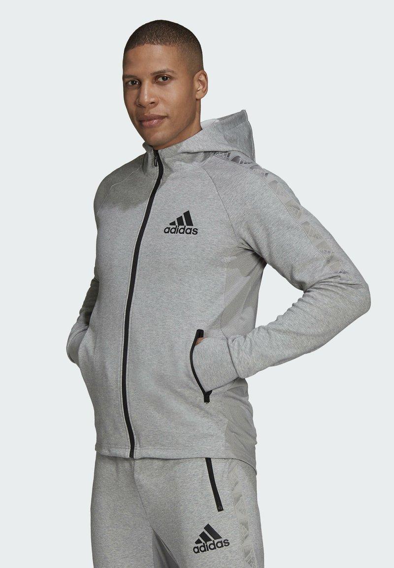 adidas Performance - M MT FZ HD - Zip-up sweatshirt - grey