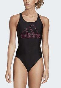 adidas Performance - ATHLY V LOGO SWIMSUIT - Swimsuit - black - 0