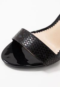 Miss Selfridge Wide Fit - WIDE FIT STEPH BLOCK HEEL BARELY THERE - High heeled sandals - black - 2