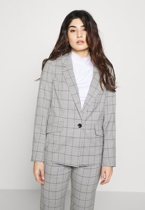ONLCAROLINA CHECK - Blazer - light grey melange