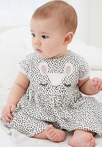 BUNNY FACE - Day dress - white/black