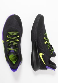 Nike Performance - MAMBA FURY - Koripallokengät - black/lemon/psychic purple - 1