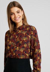 Vila - VIOPENING PEYTON - Button-down blouse - navy blazer/kecthup - 3