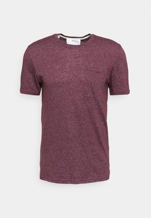 SLHDECKER O NECK TEE - Camiseta básica - winetasting