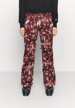 NADIA PRINTED - Schneehose - oxblood red