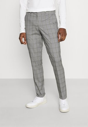SLHSLIM KYLELOGAN - Pantaloni - light gray/multi