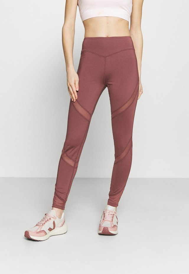 INSERT LEGGING - Legging - rose brown