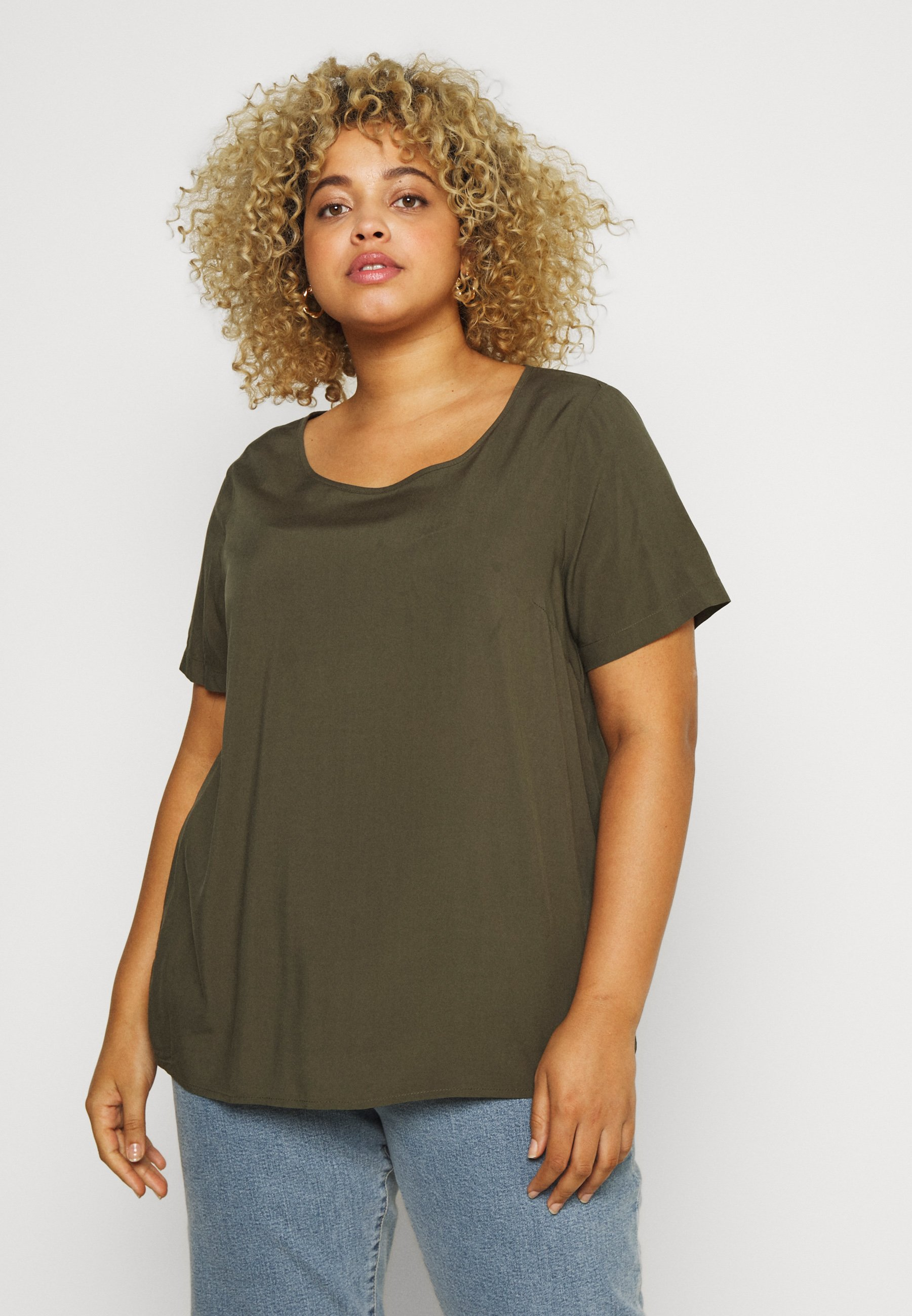 Femme CARVIS TOP SOLID - Blouse