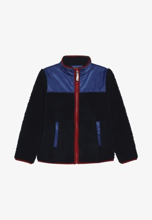 COLORBLOCKED SHERPA JACKET - Fleecová bunda - navy