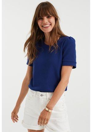 MET STRUCTUUR - Basic T-shirt - navy blue