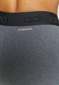 adidas Performance - Collant - dark grey heather/white - 4