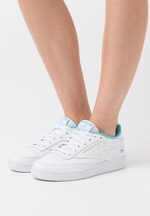 CLUB C 85 - Sneaker low - white/neon blue