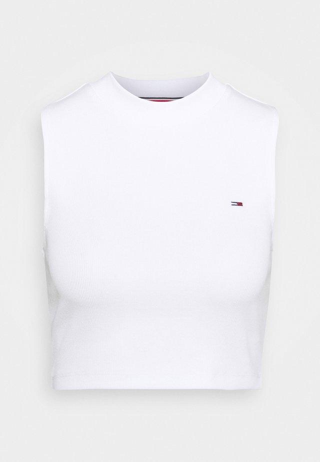 CROP MOCKNECK TANK - Top - white