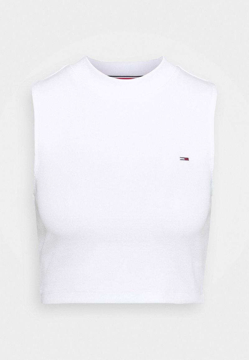 Tommy Jeans - CROP MOCKNECK TANK - Top - white