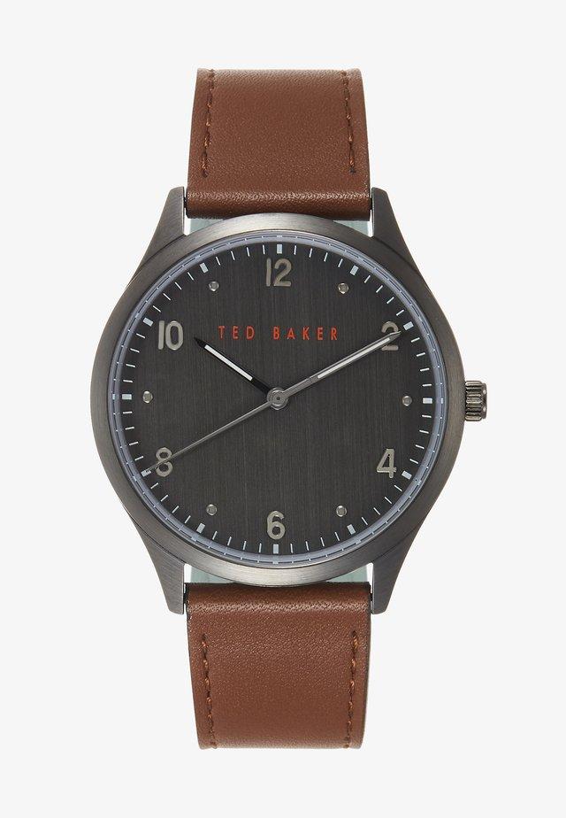 MANHATT - Watch - cognac/gunmetal