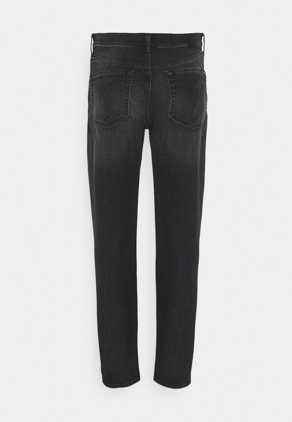 Calvin Klein Jeans SLIM - Jeansy Zwężane - black/czarny denim Odzież Męska UZMI