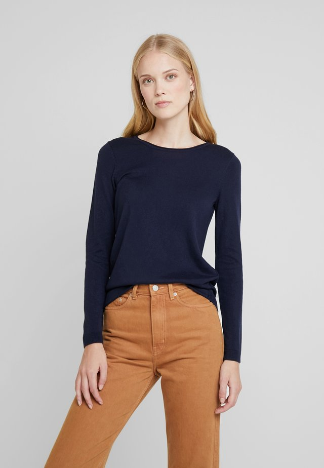BASIC NECK - Sweter - navy