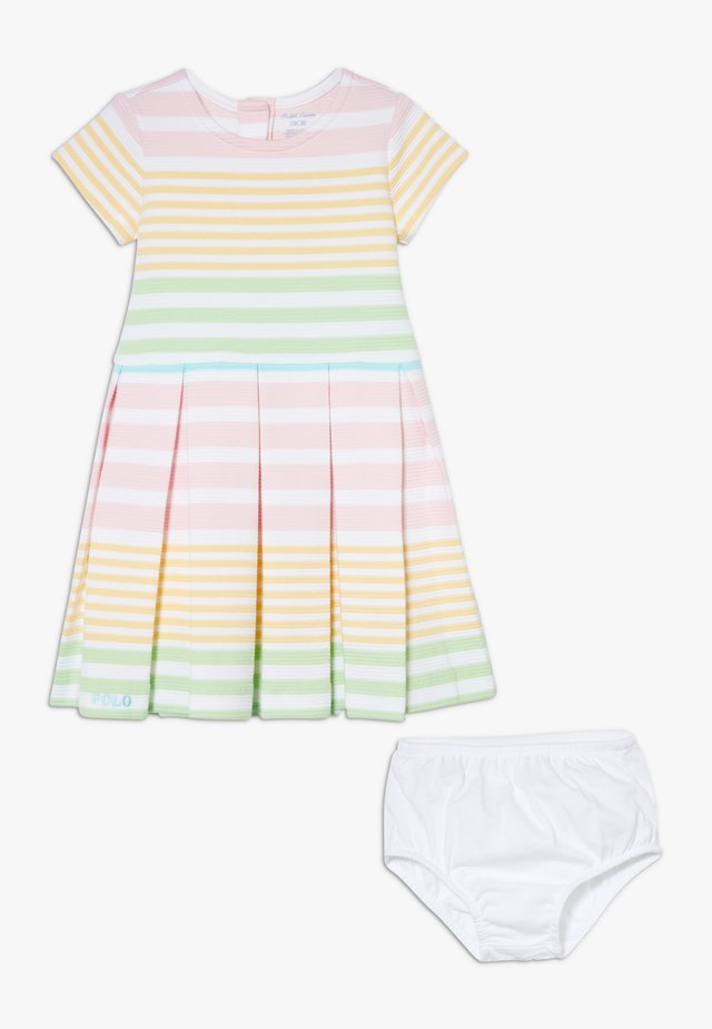 STRIPE DRESSES SET - Jersey dress - white/multicolor