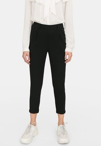 Stradivarius - SLIM FIT - Trousers - black - 0